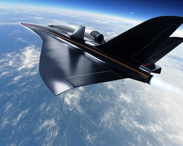 Aerodynamics Poster featuring the photograph Saenger Horus Spaceplane, Artwork by Detlev Van Ravenswaay