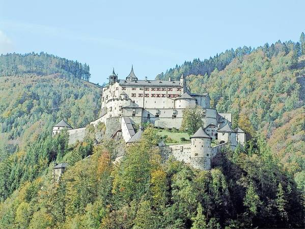Europe Poster featuring the photograph Schloss Hohenwerfen Werfen Austria by Joseph Hendrix