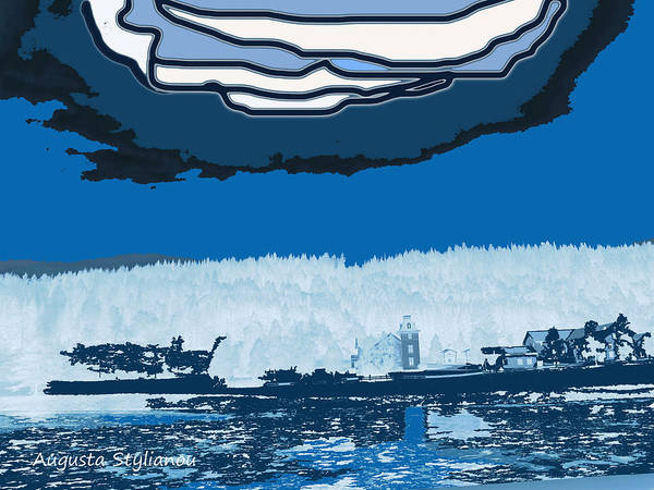 Norway Landscape Poster featuring the digital art Snowy Landscape by Augusta Stylianou