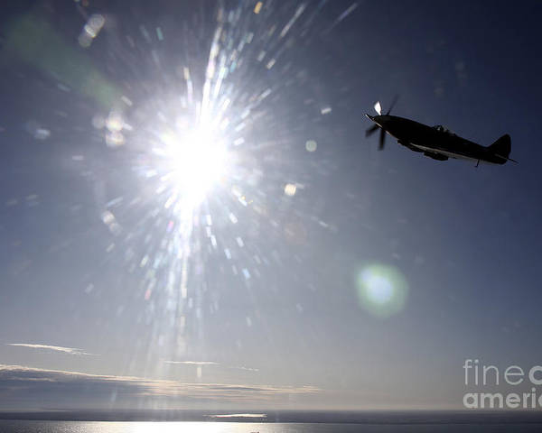 Transportation Poster featuring the photograph Supermarine Spitfire Mk. Xviii Fighter by Daniel Karlsson