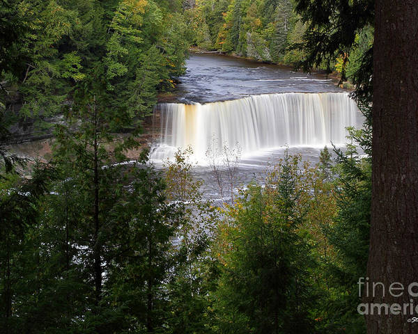 Michigan Upper Peninsula Poster featuring the photograph Upper Tahquamenon Falls by Steve Javorsky