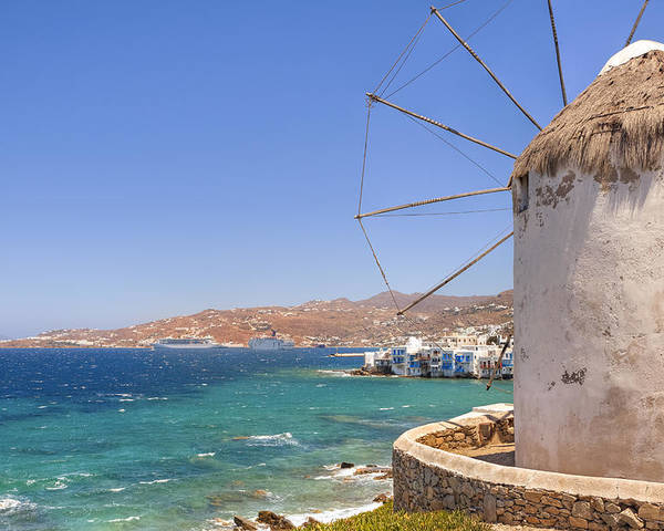 Windmills Poster featuring the photograph Mykonos by Joana Kruse