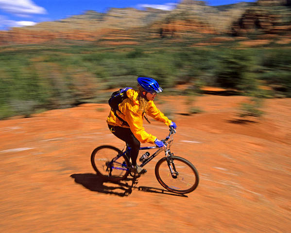 Tracey Weber Poster featuring the photograph Mountain Bike by Elijah Weber
