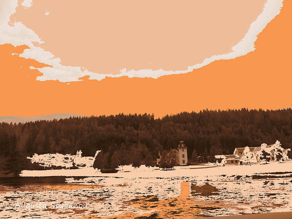 Augusta Stylianou Poster featuring the digital art Norway Landscape by Augusta Stylianou