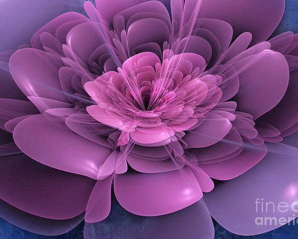 Flower Poster featuring the digital art 3d Flower by John Edwards