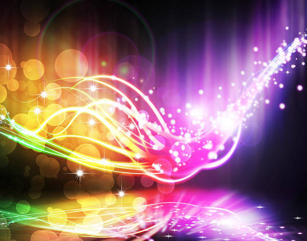 Abstract Poster featuring the photograph Abstract Lighting Effect by Setsiri Silapasuwanchai