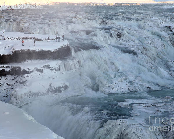 Gullfoss Poster featuring the photograph Iceland by Milena Boeva