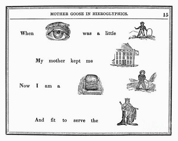 1849 Poster featuring the photograph Mother Goose, 1849 by Granger