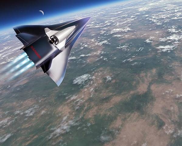 Horus Poster featuring the photograph Saenger-horus Spaceplane, Artwork by Detlev Van Ravenswaay