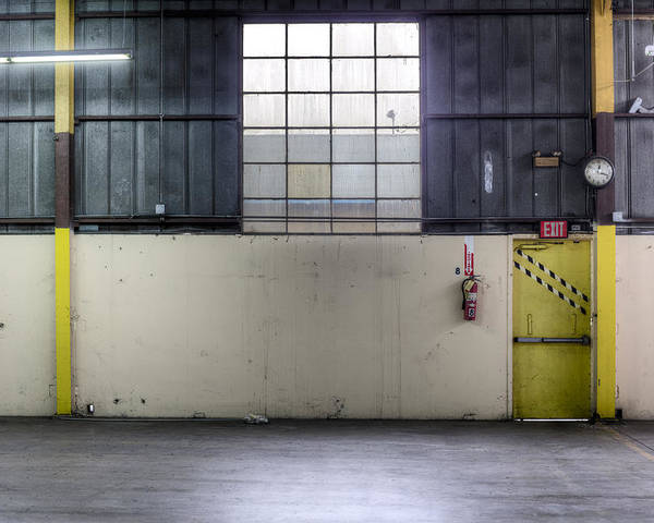 Empty Poster featuring the photograph An Empty Industrial Building In Los by Dan Kaufman