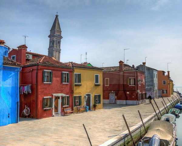 Architecture Poster featuring the photograph Burano - Venice - Italy by Joana Kruse