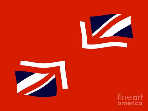 Union Jack Flag Poster featuring the digital art Jax by John Albury