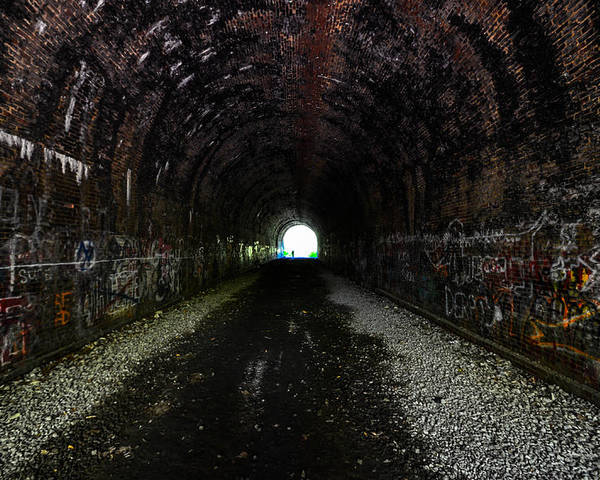Poster featuring the photograph Moonville Tunnel by Brian Stevens