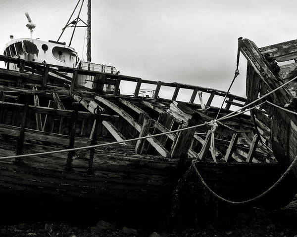Old Poster featuring the photograph Old Abandoned Ships by RicardMN Photography