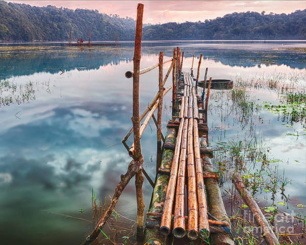 Tamblingan Poster featuring the photograph Tamblingan Lake by MotHaiBaPhoto Prints