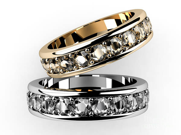 Accessories Poster featuring the digital art The Beauty Wedding Ring by Rattanapon Muanpimthong