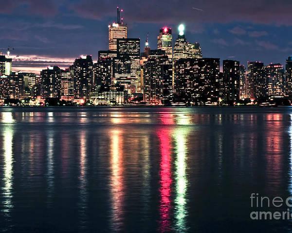Toronto Poster featuring the photograph Toronto Skyline by Elena Elisseeva