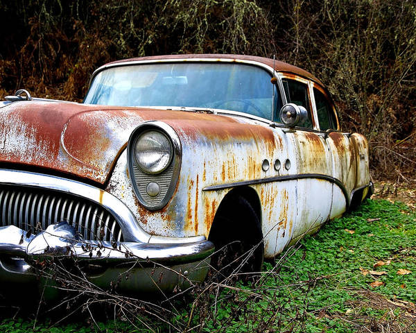 Buick Poster featuring the photograph 50's Cruiser Of The Past by Steve McKinzie