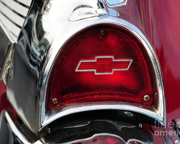 57 Chevy Poster featuring the photograph 57 Chevy Tail Light by Paul Ward