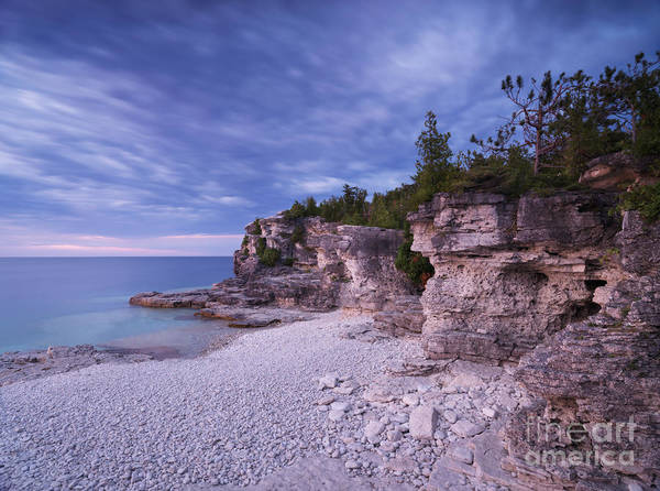 Georgian Bay Poster featuring the photograph Georgian Bay Cliffs At Sunset by Oleksiy Maksymenko