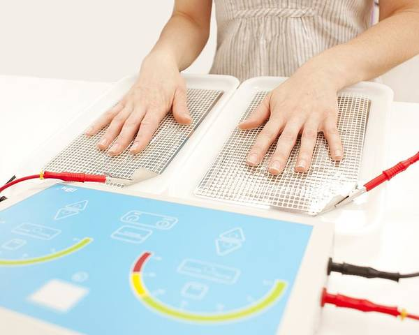 Indoors Poster featuring the photograph Iontophoresis For Excess Sweating by