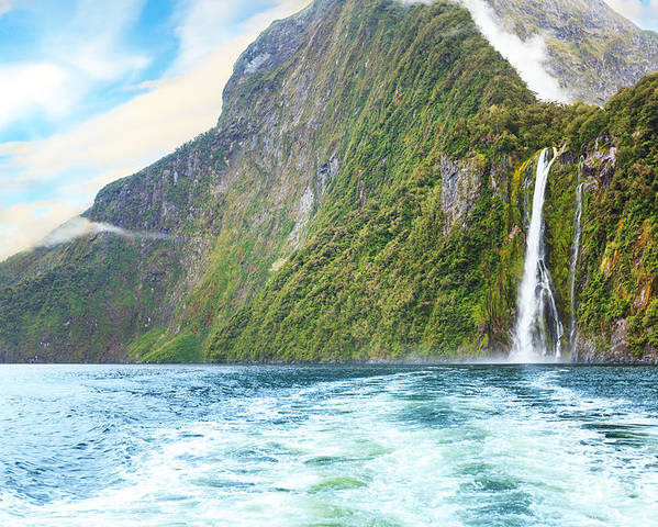 Landscape Poster featuring the photograph Milford Sound by MotHaiBaPhoto Prints
