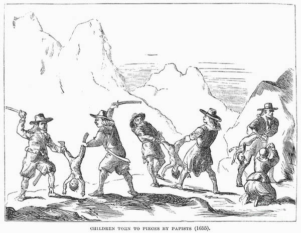 1655 Poster featuring the photograph Persecution Of Waldenses by Granger