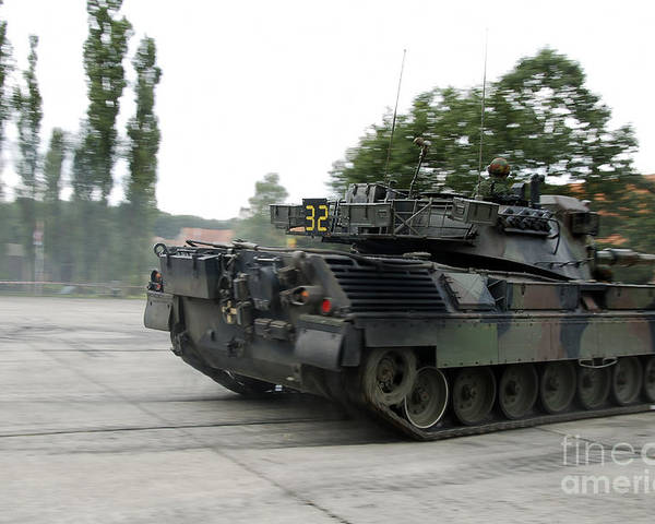 Adults Only Poster featuring the photograph The Leopard 1a5 Of The Belgian Army by Luc De Jaeger
