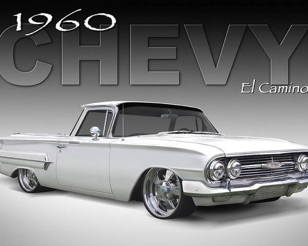 1960 Chevy El Camino Poster featuring the photograph 60 Chevy El Camino by Mike McGlothlen