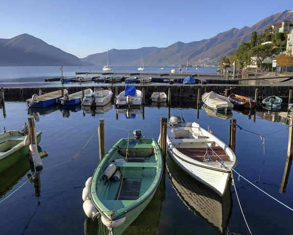 Port Poster featuring the photograph Ascona - Lake Maggiore by Joana Kruse