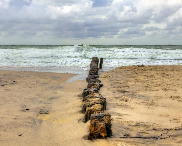 Groyne Poster featuring the photograph Kampen - Sylt by Joana Kruse