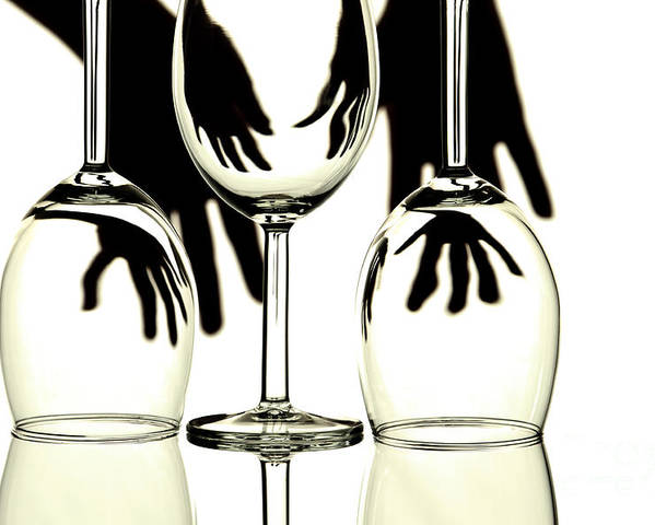 Glass Poster featuring the photograph Wine Glasses by Blink Images