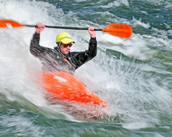 Kyle Keegan Poster featuring the photograph Kayaking by Elijah Weber