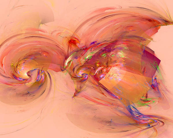 Abstract Art Poster featuring the digital art 813 by Lar Matre