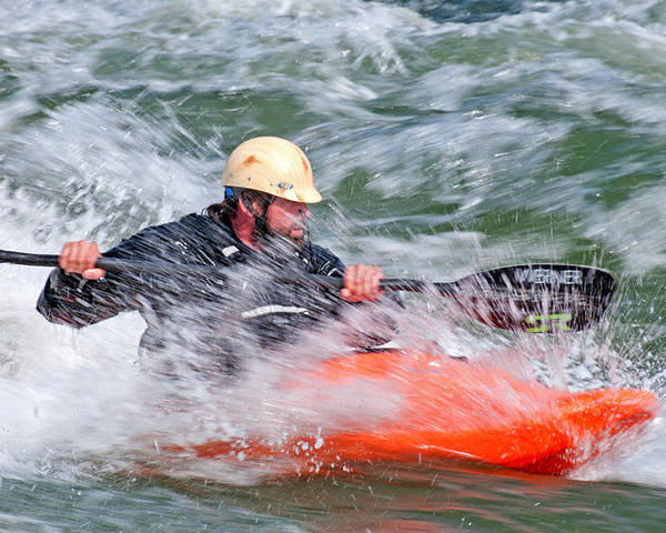 Neil Gibby Poster featuring the photograph Kayak by Elijah Weber
