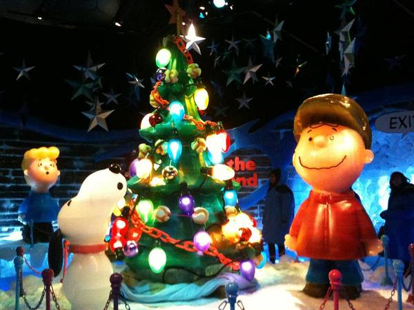 Ice Sculpture Christmas.A Charlie Brown Christmas Ice Sculpture Poster