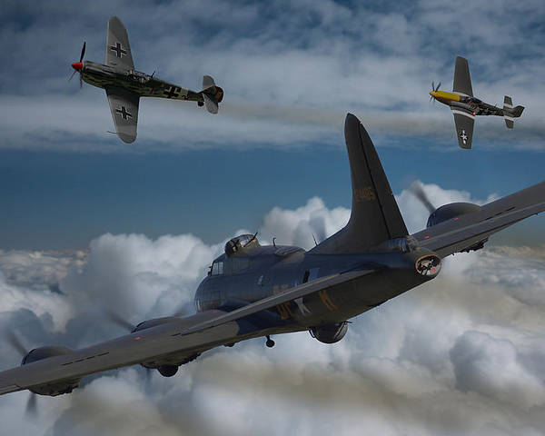 B17 Poster featuring the photograph A Close Encounter by Ken Brannen