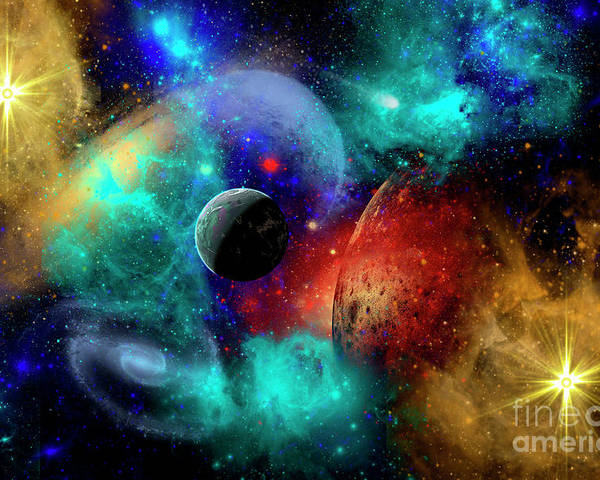 c0526e93aea Artwork Poster featuring the digital art A Colorful Part Of Our Galaxy by  Mark Stevenson