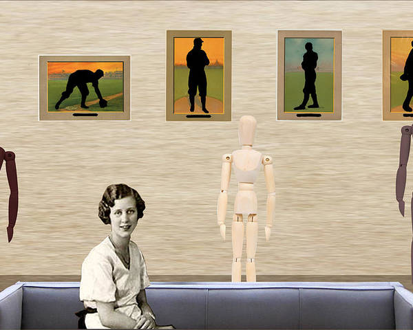 Surrealism Poster featuring the digital art A Day At The Gallery   Tribute To Hamilton by Welte A And T