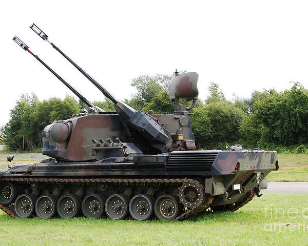 35mm Poster featuring the photograph A Gepard Anti-aircraft Tank by Luc De Jaeger