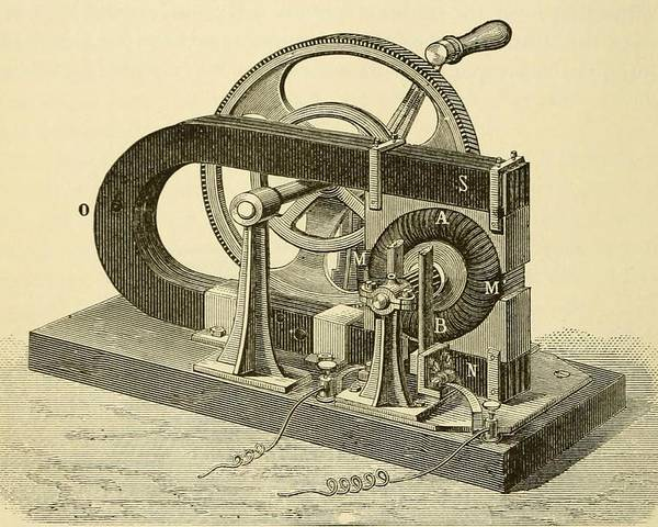 History Poster featuring the photograph A Hand Cranked Device Onsisting by Everett