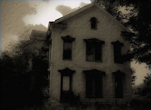 House Poster featuring the photograph A Haunting by DigiArt Diaries by Vicky B Fuller
