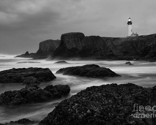 Water Photography Poster featuring the photograph A Light In The Storm by Keith Kapple