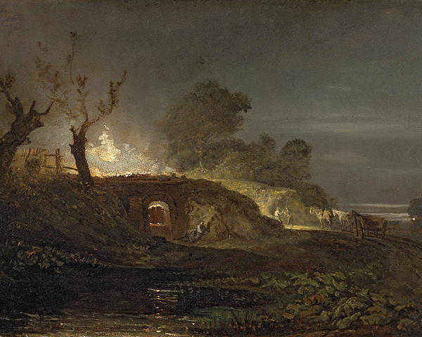 Xyc145616 Poster featuring the photograph A Lime Kiln At Coalbrookdale by Joseph Mallord William Turner