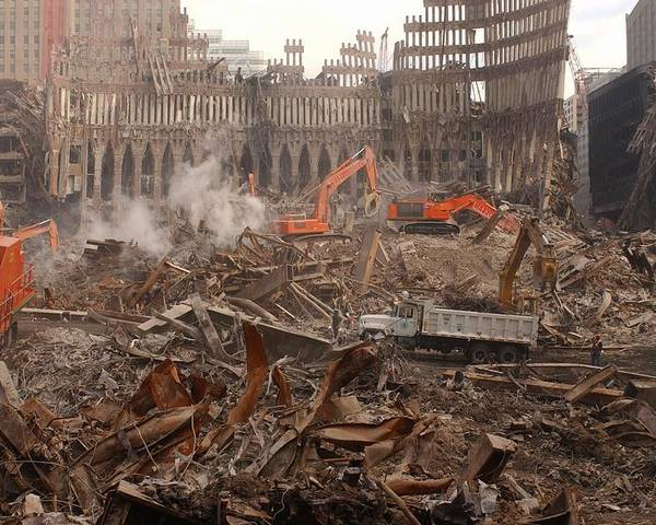 2000s Poster featuring the photograph A Month After The Terrorist Attacks by Everett