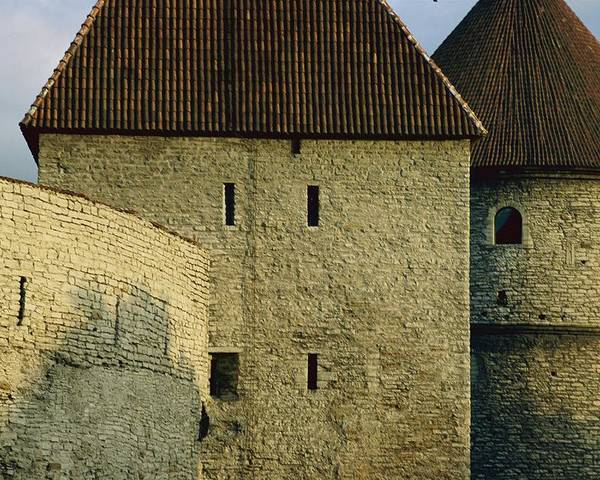 Walls Poster featuring the photograph A Section Of Wall Around Tallinn, Built by Sisse Brimberg