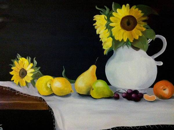 Still-life Poster featuring the painting A Still-life by Rita Fernandes