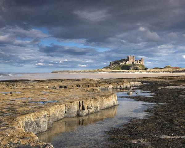 Northumberland Poster featuring the photograph A View Of Bamburgh Castle Bamburgh by John Short