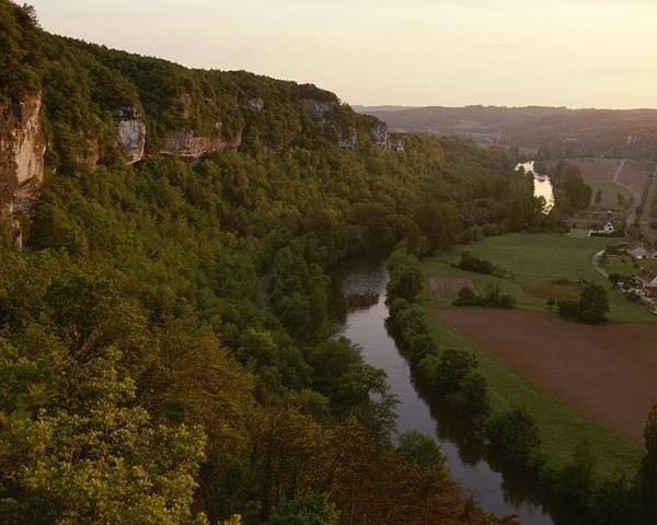 Europe Poster featuring the photograph A View Of The Vezere River Valley by Kenneth Garrett