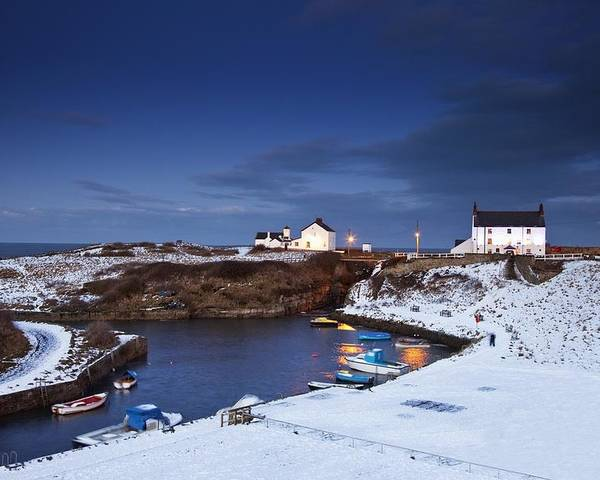 Northumberland Poster featuring the photograph A Village On The Coast Seaton Sluice by John Short